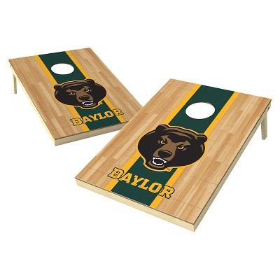 Baylor Bears Wild Sports 2' x 3' Hardwood Design Tailgate Toss Platinum Cornhole Set