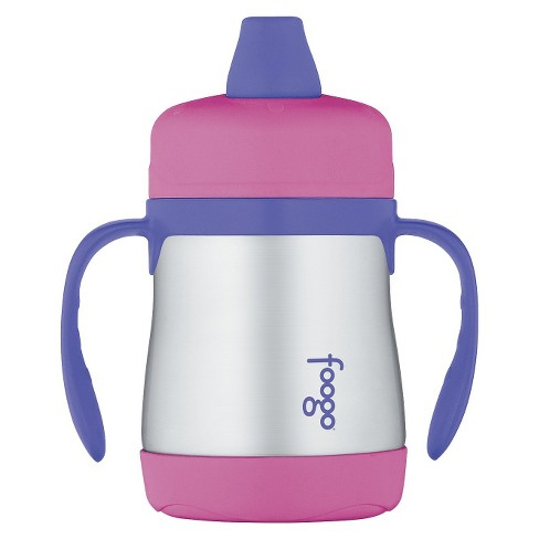 Thermos Foogo Vacuum Insulated Sippy Cup with Handles- 7 oz - Pink - image 1 of 2
