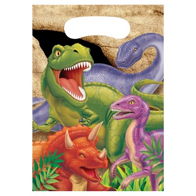 8ct Dino Favor Bags