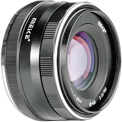 Meike 50mm f/2.0 Lens for Canon EF-M, Black - image 1 of 3