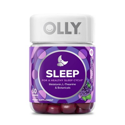 view Olly Sleep Vitamin Gummies - Blackberry Zen - 50ct on target.com. Opens in a new tab.
