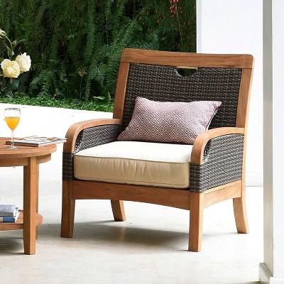 Palma Teak Patio Lounge Chair with Cushion - Cambridge Casual