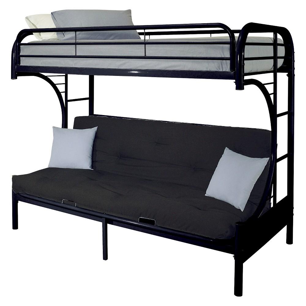Eclipse Kids Futon Bunk Bed - Black(Twin XL/Queen) - Acme