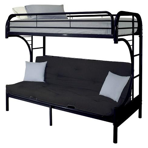 Eclipse Kids Futon Bunk Bed Black Twin Xl Queen Target