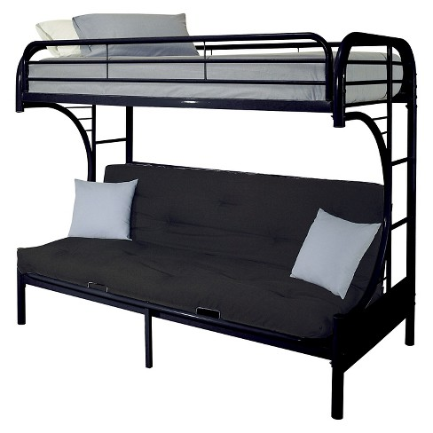 Eclipse Kids Futon Bunk Bed Black Twin Xl Queen Acme