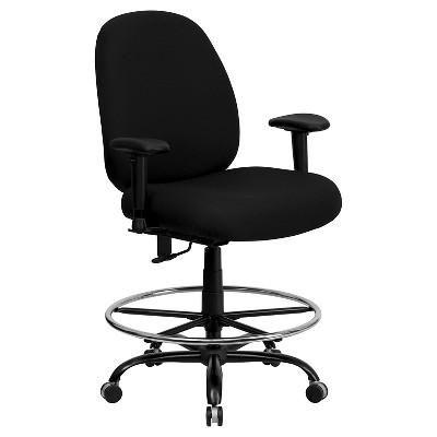 Beau Capacity Big U0026 Tall Drafting Chair Black   Flash Furniture