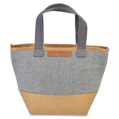 Out of the Woods Mini Shopper Lunch Tote- Herringbone