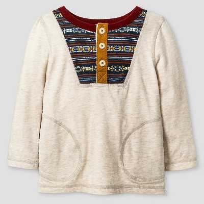 Baby Boys' T-Shirt - Oatmeal Heather 12 M - Genuine Kids™ from Oshkosh®