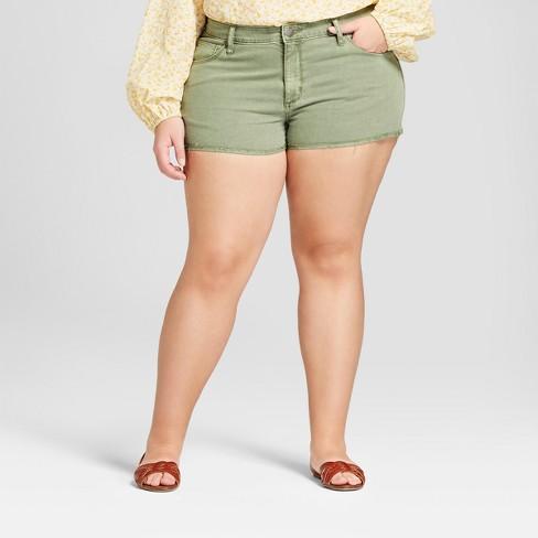 1da3ab59218 Women s Plus Size Jean Shorts - Universal Thread™ Green 22W   Target
