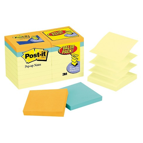 Post It Pop Up Notes Bonus Pk Refills 3 X Canary Yellow 100 Sheets 18 Target