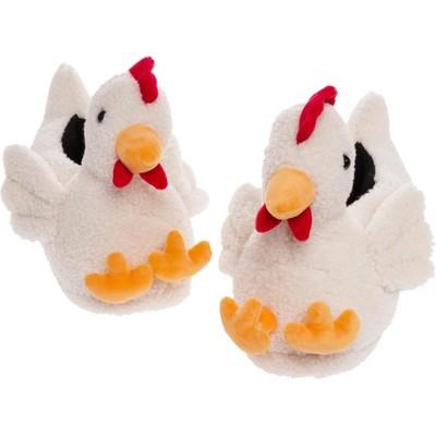 FUNZIEZ! - Men's Chicken Animal Slippers