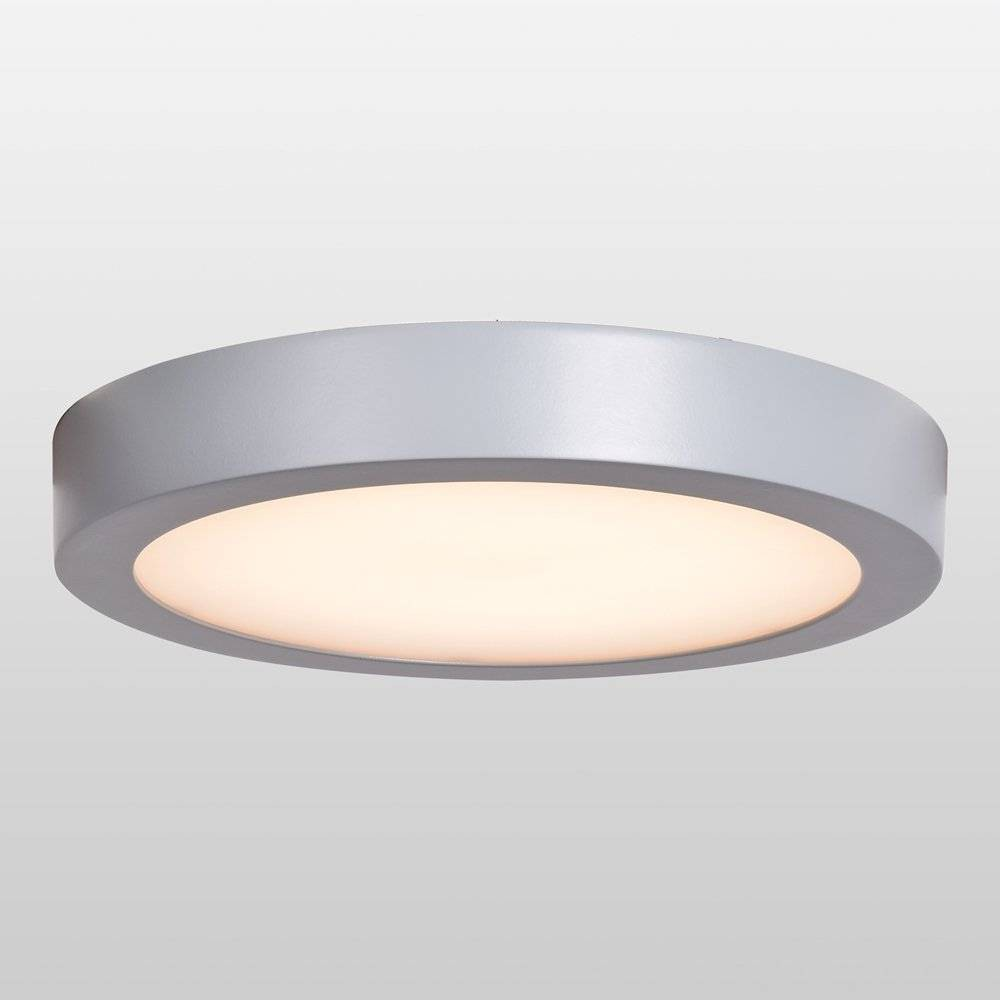 "Image of ""Ulko Exterior 6"""" LED Outdoor Flush Mount Ceiling Light - Acrylic Lens Diffuser Silver - Access Lighting"""