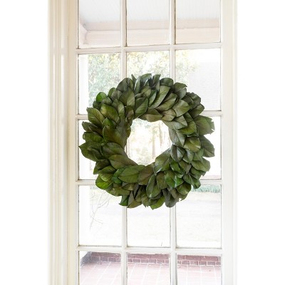 Park Hill Collection Preserved Magnolia Leaf Wreath Large
