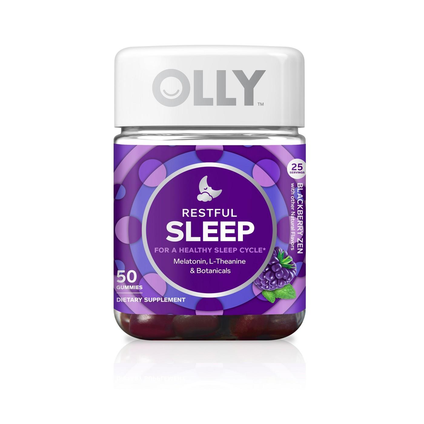 Olly Restful Sleep Zen Vitamin Gummies - Blackberry - 50ct - image 1 of 4