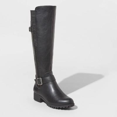 Women's Kota Faux Leather Multiple Buckle Booties - Universal Thread™ Black 7