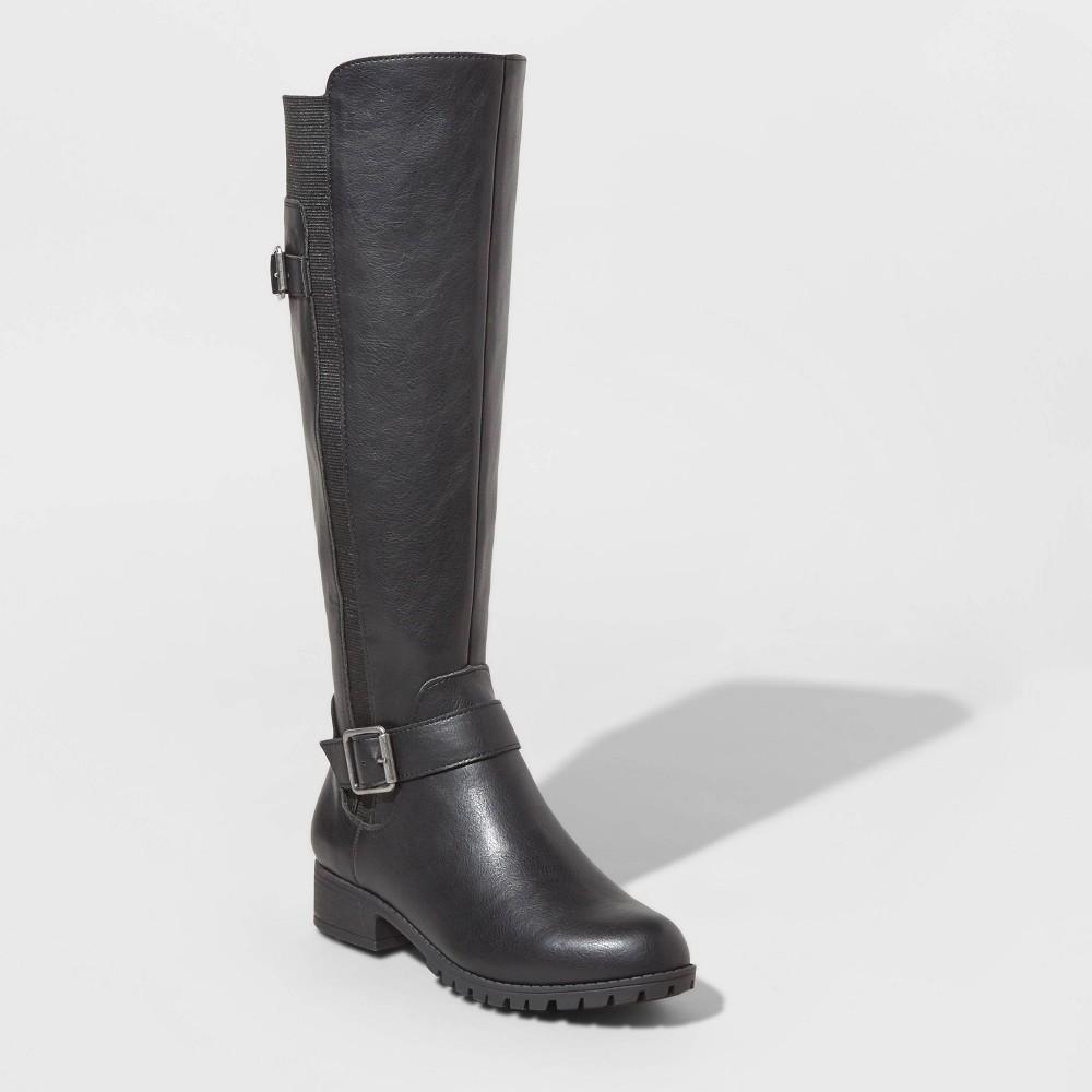 Image of Women's Kota Faux Leather Multiple Buckle Booties - Universal Thread Black 5