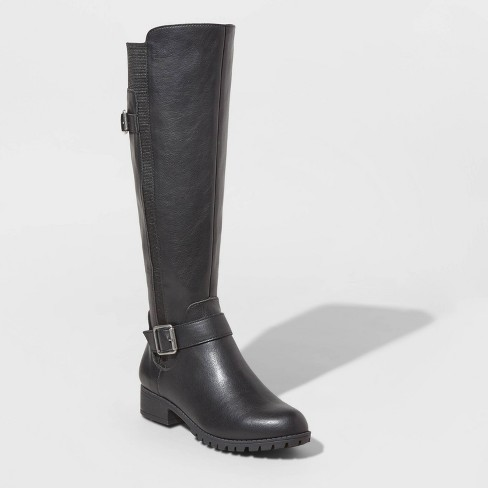 Women's Kota Faux Leather Multiple Buckle Riding Booties - Universal Thread™ - image 1 of 3