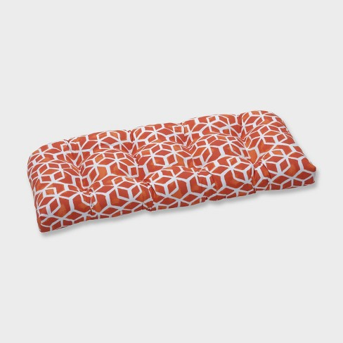 Celtic Marmalade Wicker Outdoor Loveseat Cushion Orange - Pillow Perfect - image 1 of 1