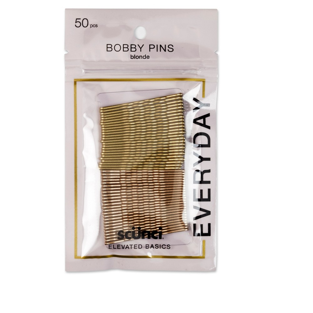 Conair Scunci Bobby Pins Blonde - 50pk, Yellow