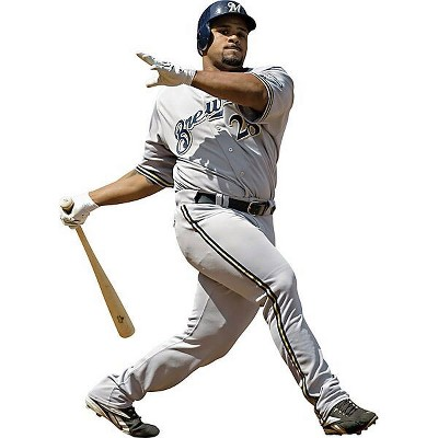 Prince Fielder Fathead MLB Baseball Player Wall Accent Sticker - Milwaukee Brewers..