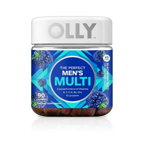 Olly The Perfect Men's Multi-Vitamin Vitamin Dietary Supplement Gummies - Blackberry Blitz - 90ct - image 1 of 4