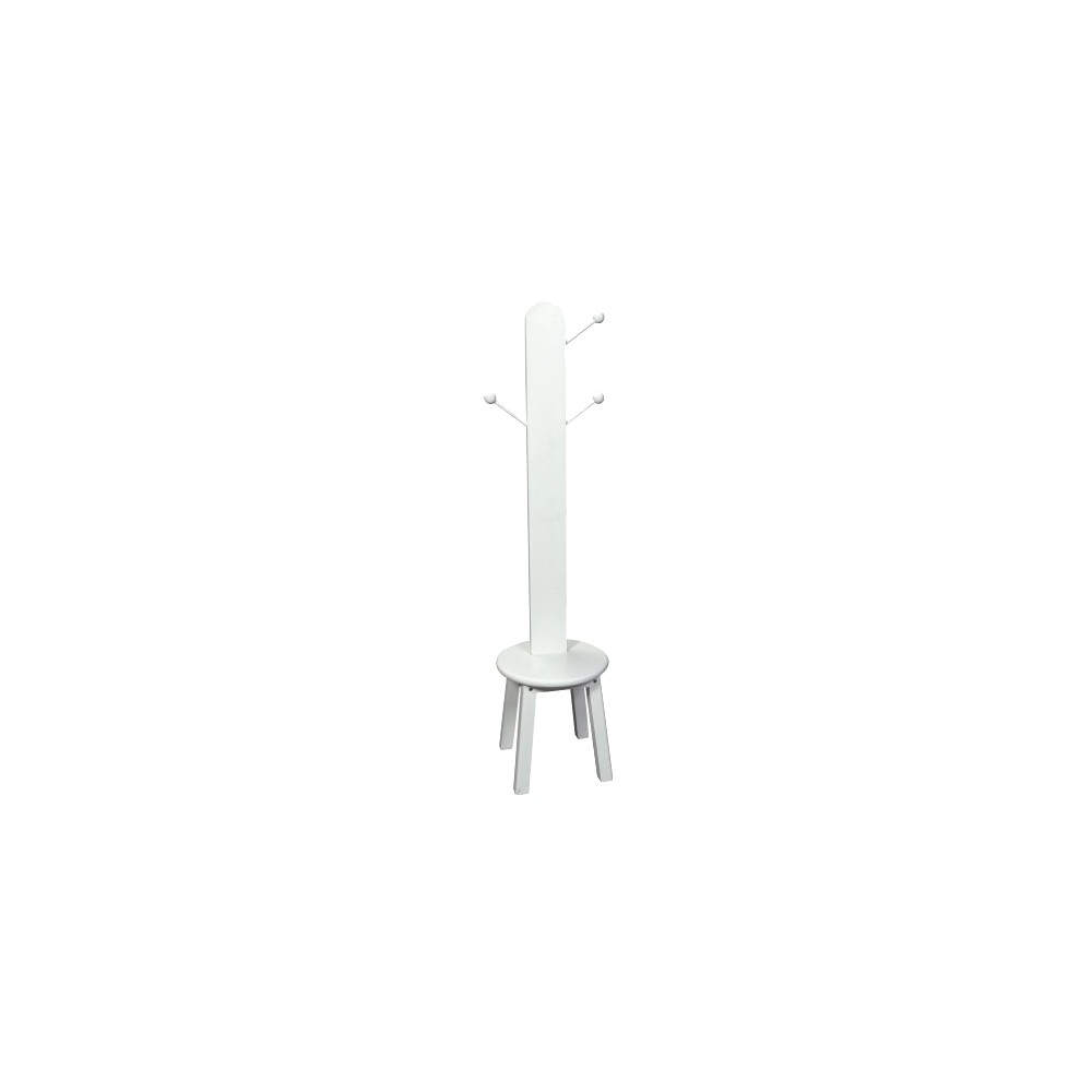 Image of Gift Mark Clothes Tree with Stool - White