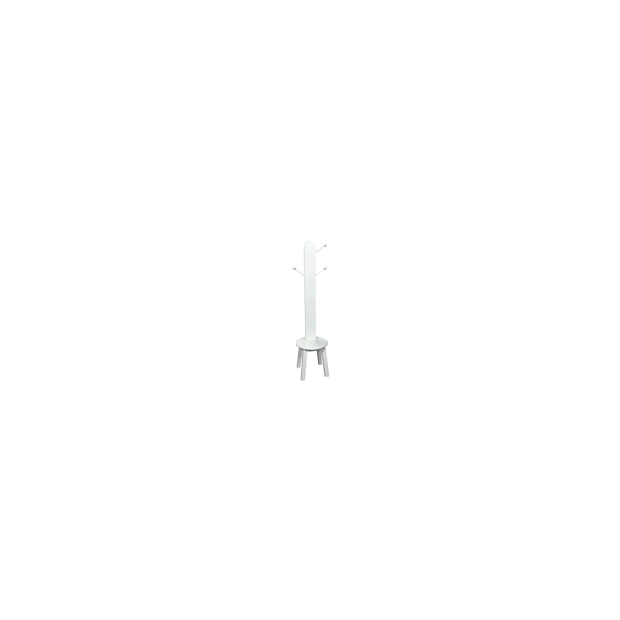 Gift Mark Clothes Tree with Stool - White