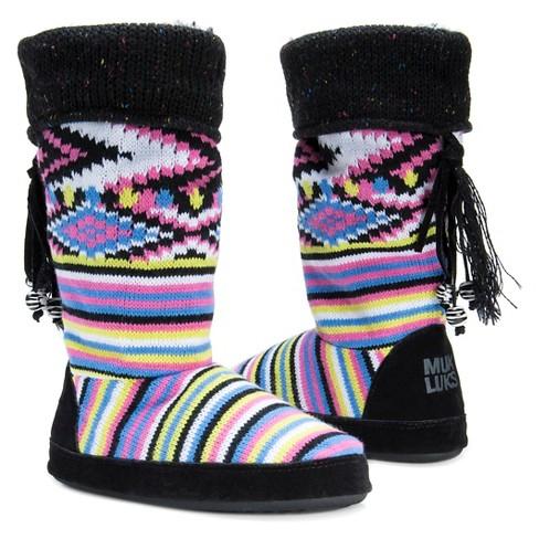 8b86e213d8d8 Women s MUK LUKS® Winona Striped Slipper Boots. Shop all Muk Luks