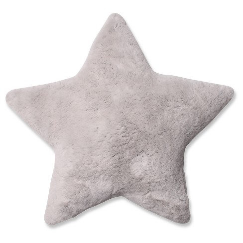 Off White Plush Star Throw Pillow 18x18 - Pillow Perfect - image 1 of 1