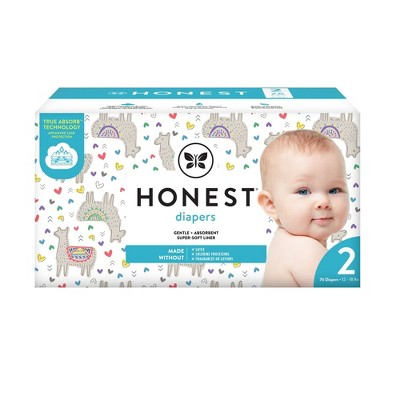 The Honest Company Disposable Diapers All The Alpacas Size 2 - 76ct