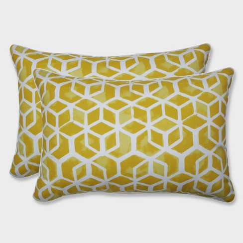 2pk Oversize Celtic Pineapple Rectangular Throw Pillows Yellow - Pillow Perfect - image 1 of 1