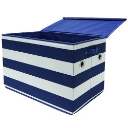 Large Rectangle Stripe Toy Storage Bin - Pillowfort™
