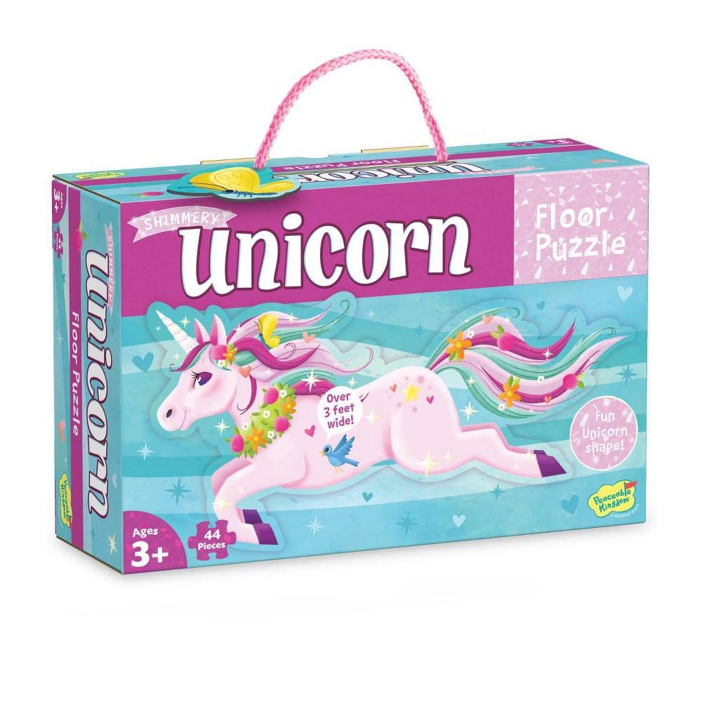 Mindware Shimmery Unicorn Die Cut Floor Puzzle 44pc