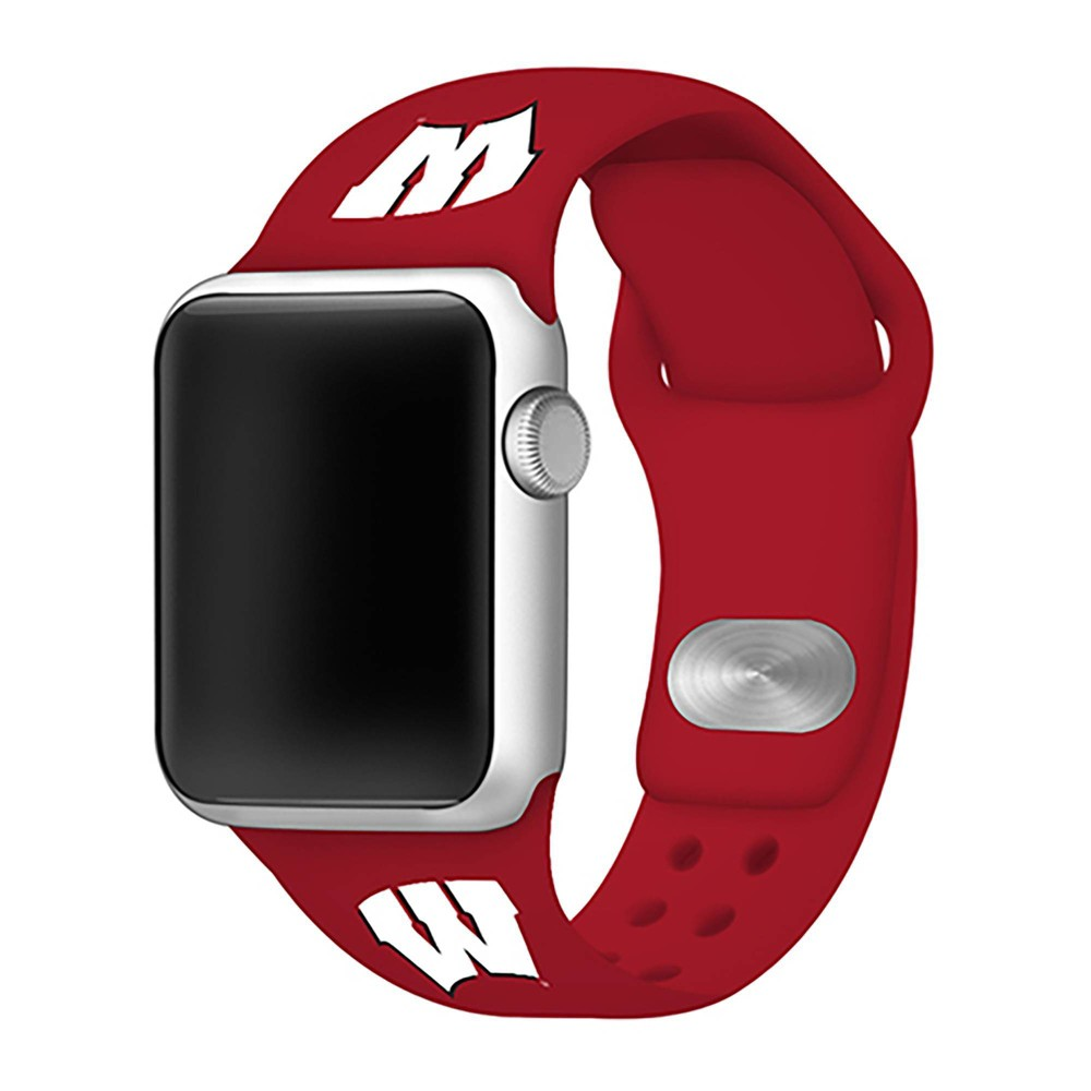 Ncaa Wisconsin Badgers Silicone Apple Watch Band 38mm