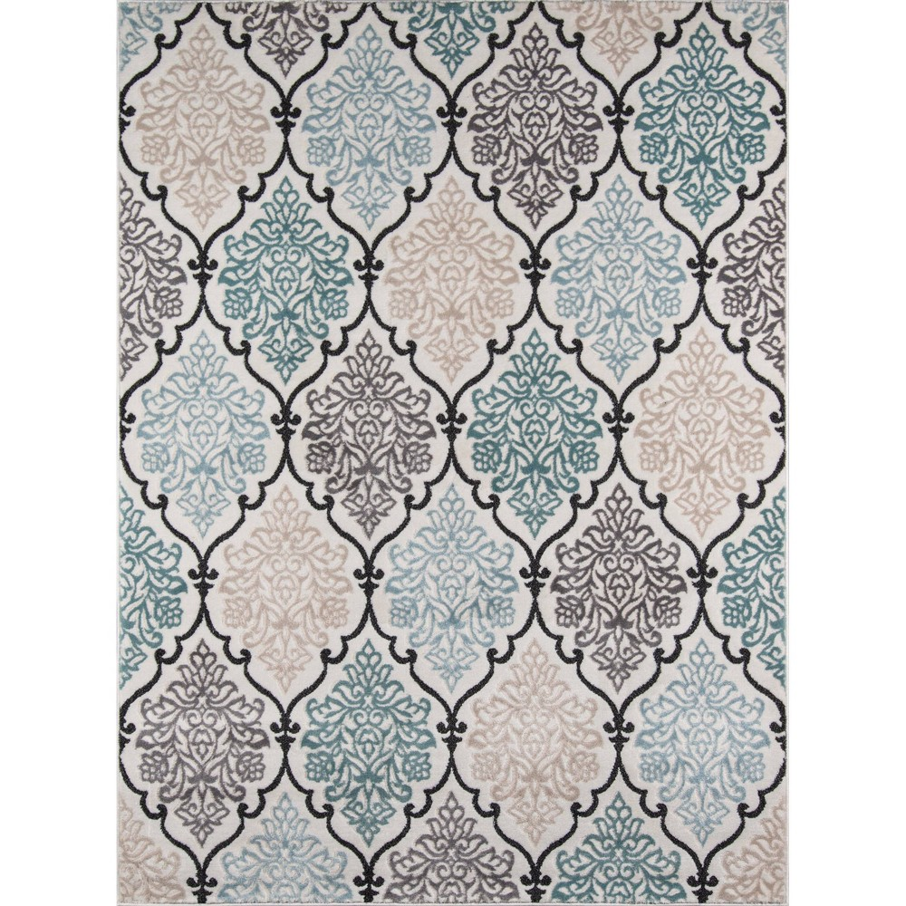 Scalloped Loomed Area Rug 9'6