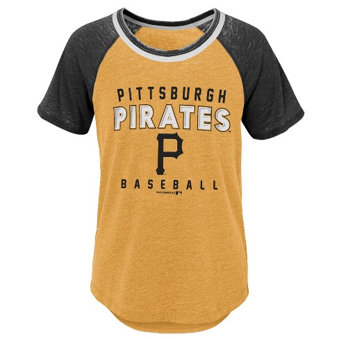 MLB Pittsburgh Pirates Girls' Burnout Alt T-Shirt - image 1 of 1