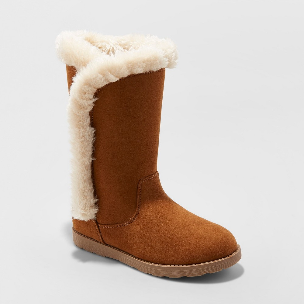 Girls' Hart Microsuede Fashion Boots - Cat & Jack Chestnut (Brown) 13