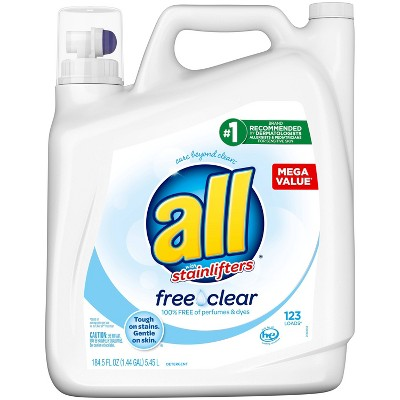 All Ultra Free Clear HE Liquid Laundry Detergents