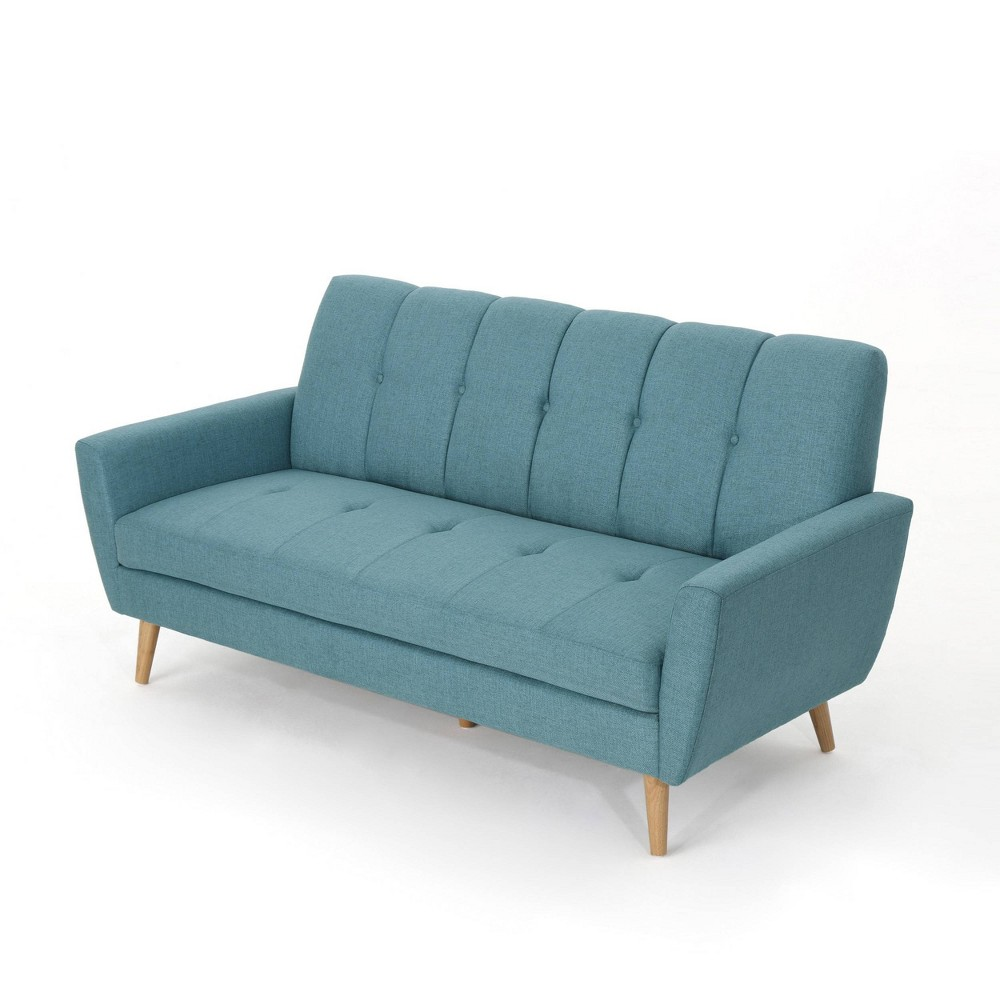Treston Mid Century Sofa Blue - Christopher Knight Home