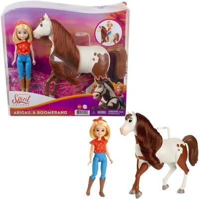"Spirit Untamed Abigail 7"" Doll & 8"" Boomerang Horse with Long Mane"