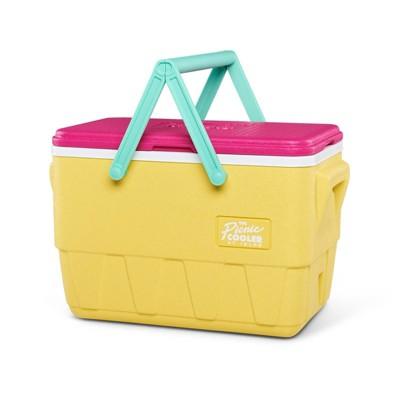 Igloo Retro Picnic Basket Cooler - Yellow