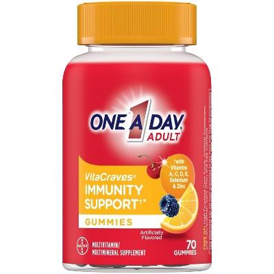 One A Day Adult Multivitamin + Immunity Gummy - 70ct