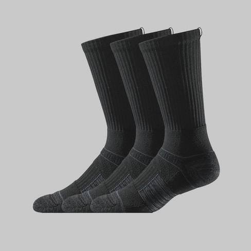 Men's Strideline Crew Athletic Socks 3pk - Black One Size - image 1 of 1