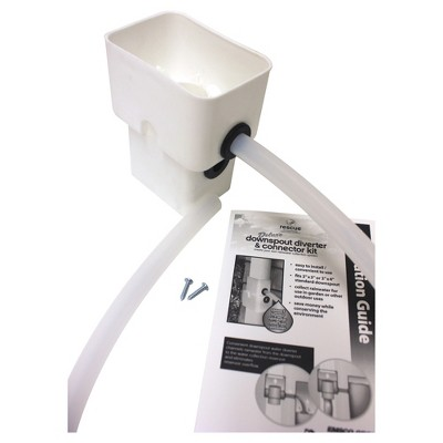 Rescue Rectangular Dual Diverter Kit - White - Emsco