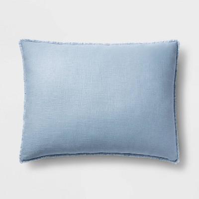 King Euro Heavyweight Linen Blend Throw Pillow Sky Blue - Casaluna™