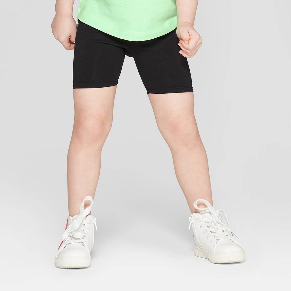 Toddler Girls' Bike Shorts - Cat & Jack Black 3T
