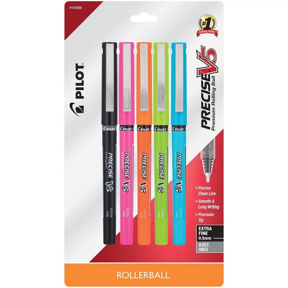 Pilot 5pk Precise V5 Rollerball Pens Extra Fine