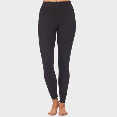 Warm Essentials by Cuddl Duds Women's Smooth Mesh Thermal Leggings - Black
