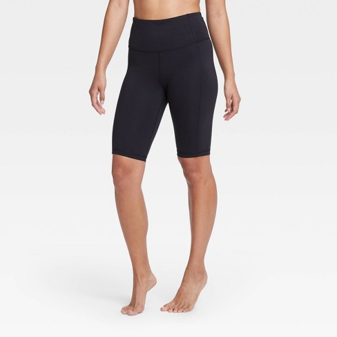 """Women's Contour Curvy Power Waist High-Rise Shorts 11"""" - All in Motion™ Black - image 1 of 4"""