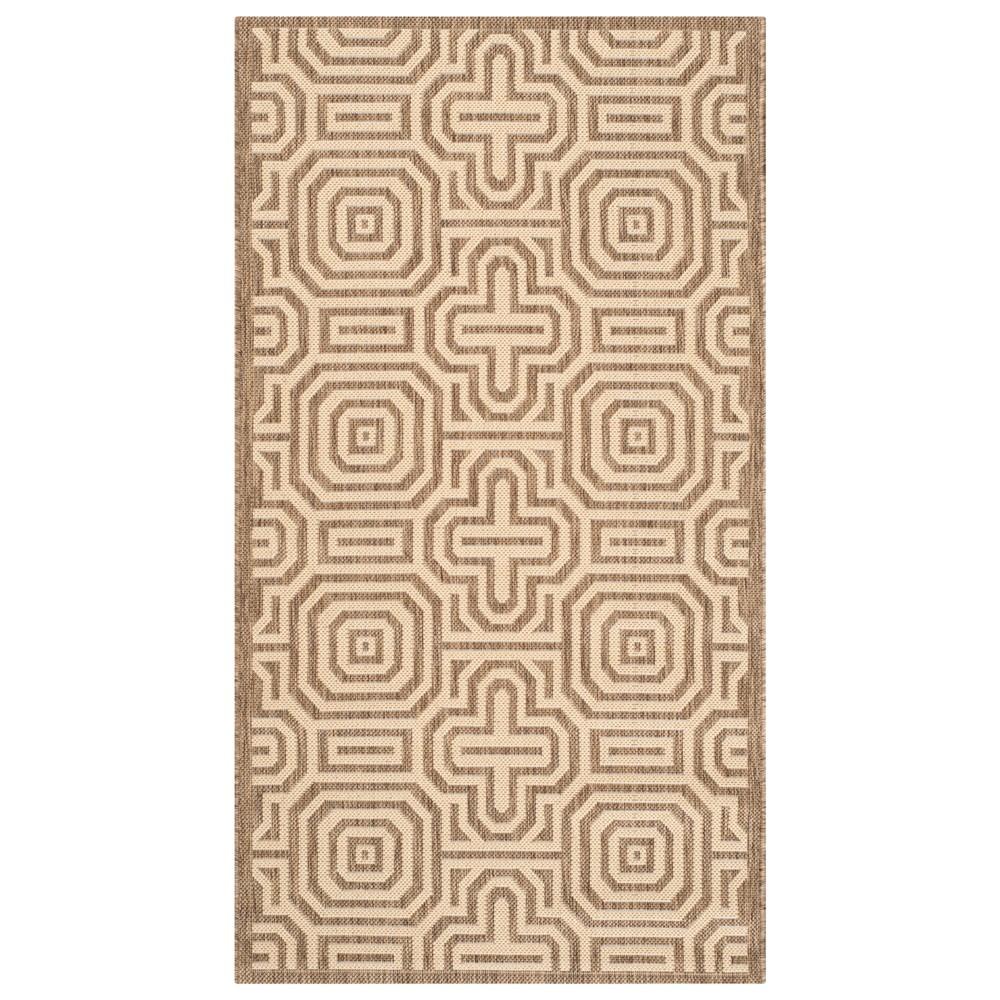Moseen 2'x 3'7 Rug - Brown/Natural - Safavieh